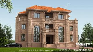 欧式石材三层别墅这样建,人人都夸赞