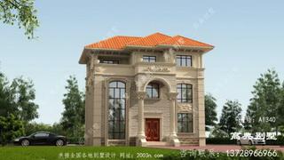 欧式石材三层别墅外观奢华大气