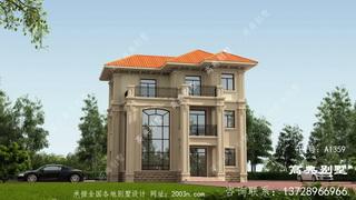 两间三层农村房设计图首层95平方米