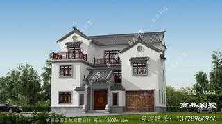 农村别墅三层设计图首层162平方米