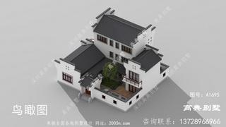 3层别墅设计图首层257平方米