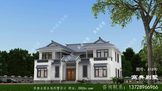 农村两层新中式四合院别墅设计图纸