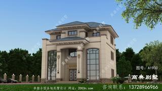 别墅设计图纸及效果图大全三层首层155平方米