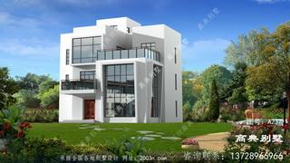 现代新型三层别墅设计,配复式大厅