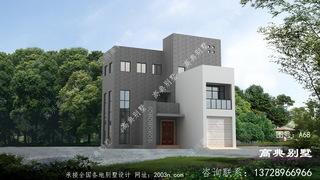 新现代三层别墅的外观设计图带车库