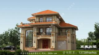经典复式三层欧式风格别墅住宅设计图