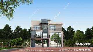 120平方别墅设计图三层现代风格