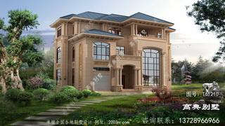 三层意大利风格石材别墅效果图