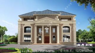 高雅三层欧式别墅设计图纸及效果图